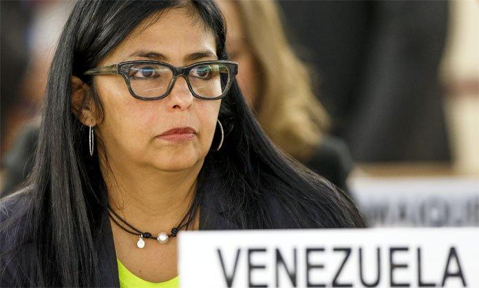 """Delcy Rodríguez agradece por haber sido declarada """"Canciller de la dignidad"""""""