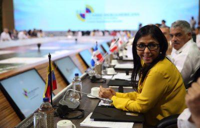 Rodríguez disculpa ausencia de Maduro en Cartagena por preparativos para diálogo con la oposición