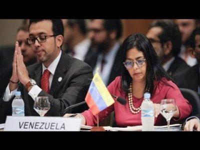"""Delcy Rodríguez calificó de """"ilegal"""" reunión de cancilleres del Mercosur convocada por Argentina"""