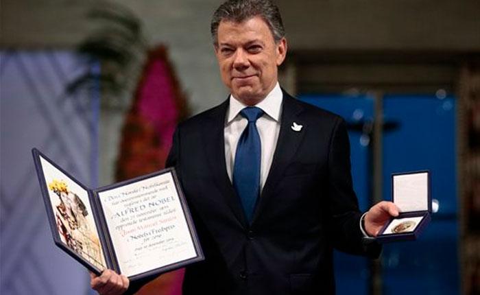 Santos recibe el Nobel de la Paz