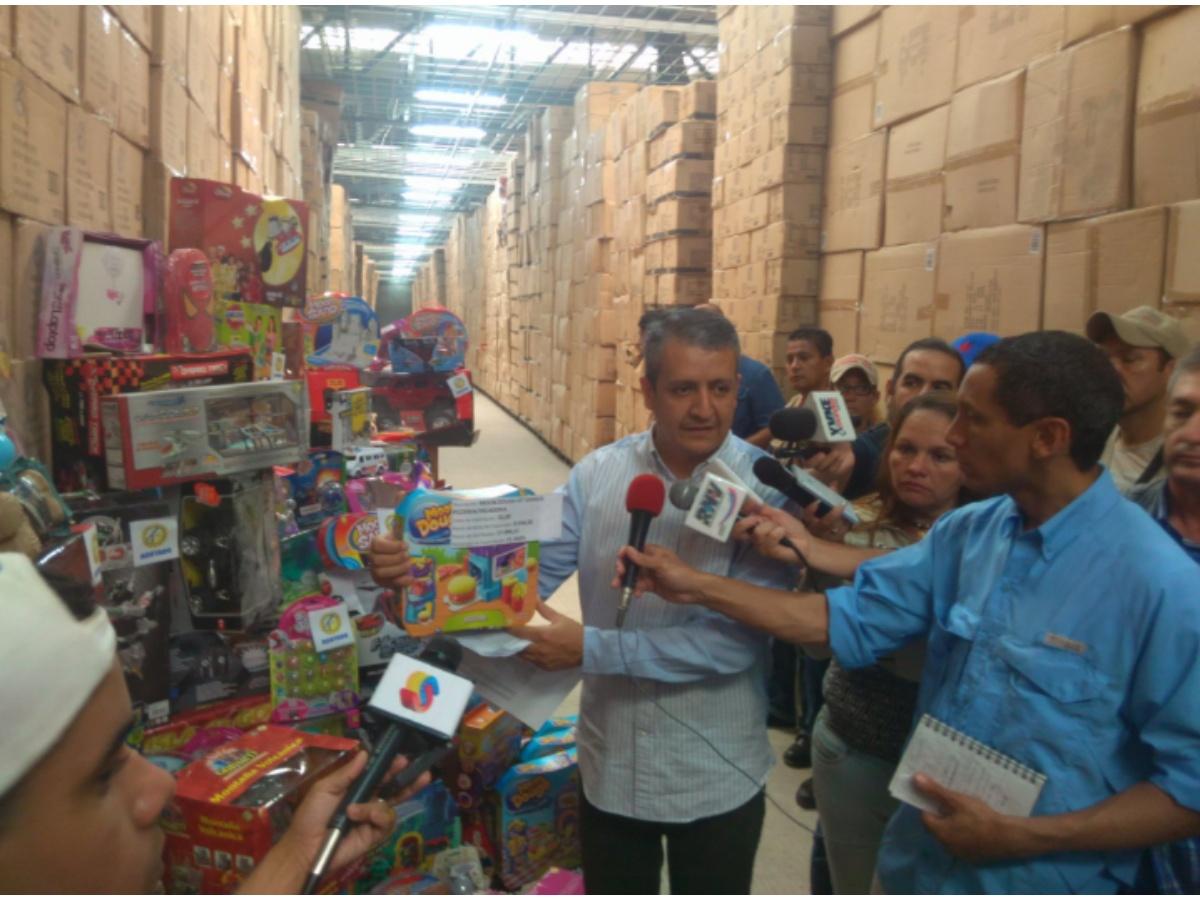 William Contreras: Incautamos 934 mil juguetes en galpón de empresa Kreisel, Guarenas